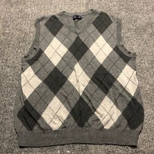 Croft & Barrow argyle gray sweater vest
